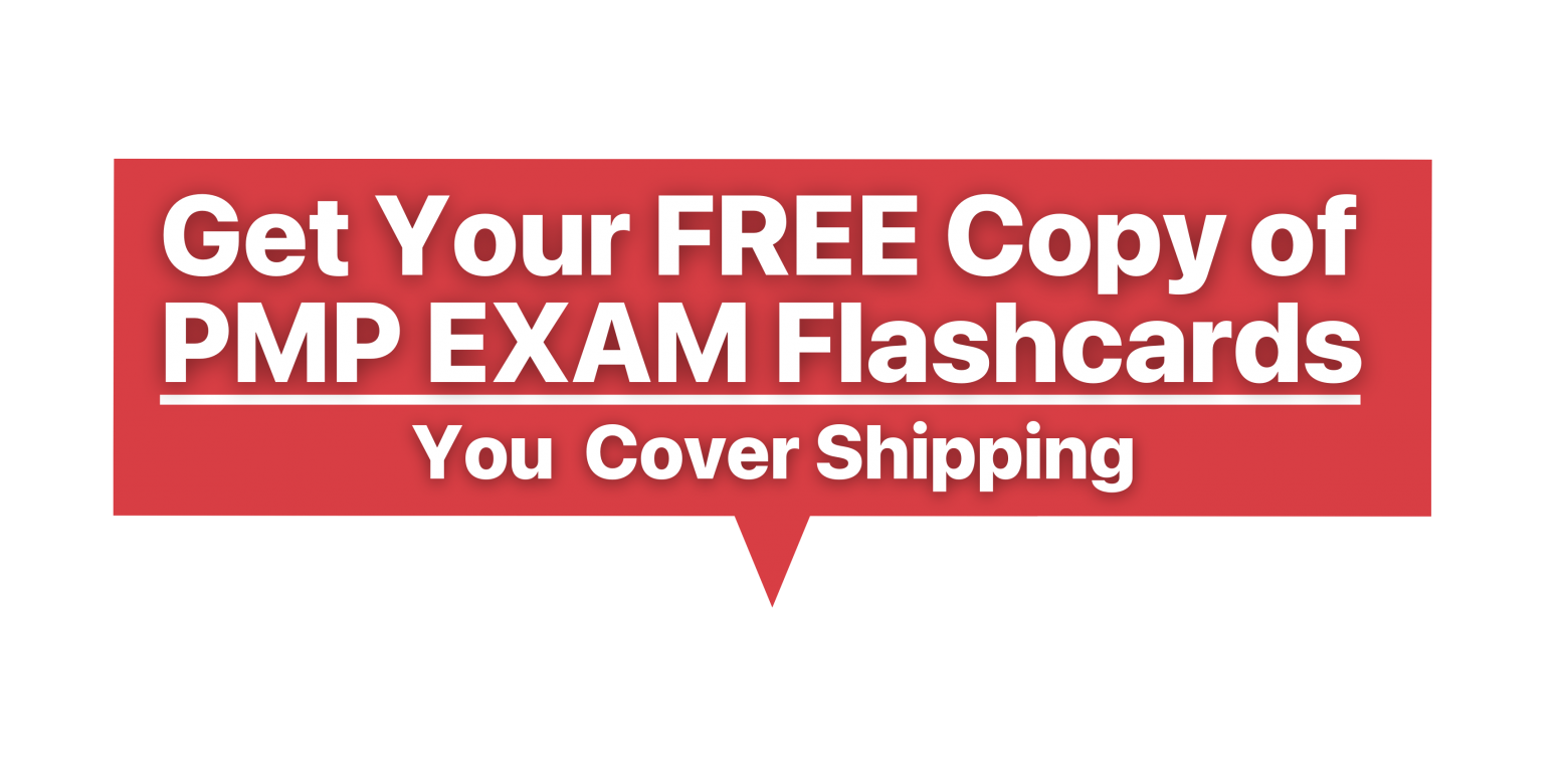 Get your free copy of PMP exam flashcards